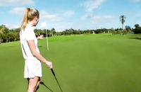 How hot this hottie is? Watch how she teases her clit in the park. After a golf games she gets girty.
