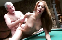 Gorgeous young slut completely used by an older guy. He know how to secude a silly babe into deep blowjobs and anal fucking.