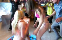 This is a hot sex parties with blonde and brunette girls. They seems to be amazing fun they are having. These sweet sex angels love playing in a tub and they are really wet and ready for deep penetration