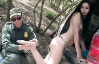 Watch how this kinky policeman fucks this young yummy brunette. How old is this hottie. She looks so young and pretty...