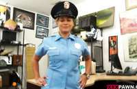 Reality porn with a gorgeoud babe in a police uniform banged up her tight butt.