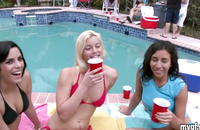 College outdoor porn with an amazing young sorority sisters