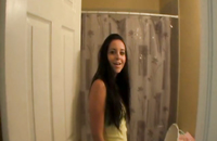 Homemade POV blowjob by slutty teen after bathroom